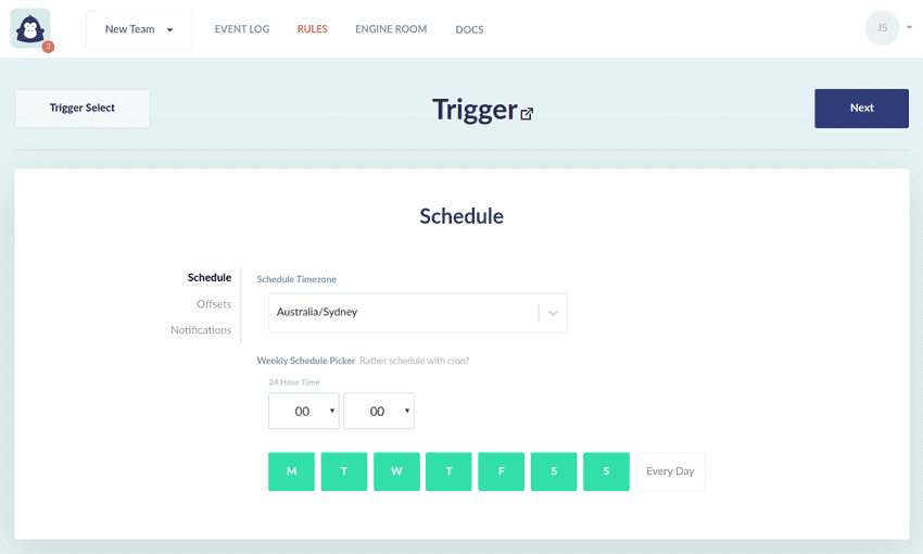 Schedule Trigger Page 1