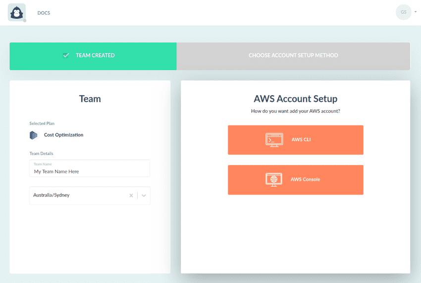 AWS Account Setup Link Account