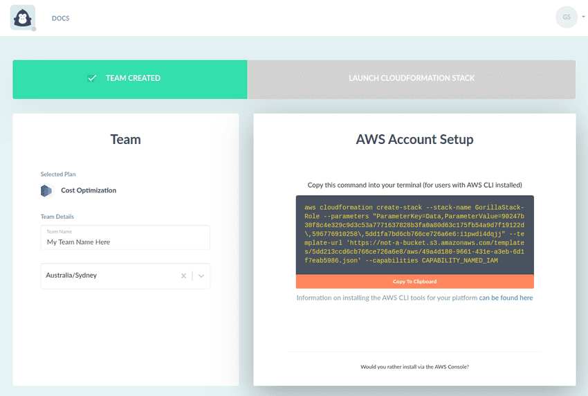AWS Account Setup CLI