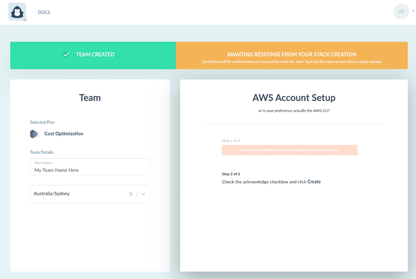 AWS Account Setup Waiting